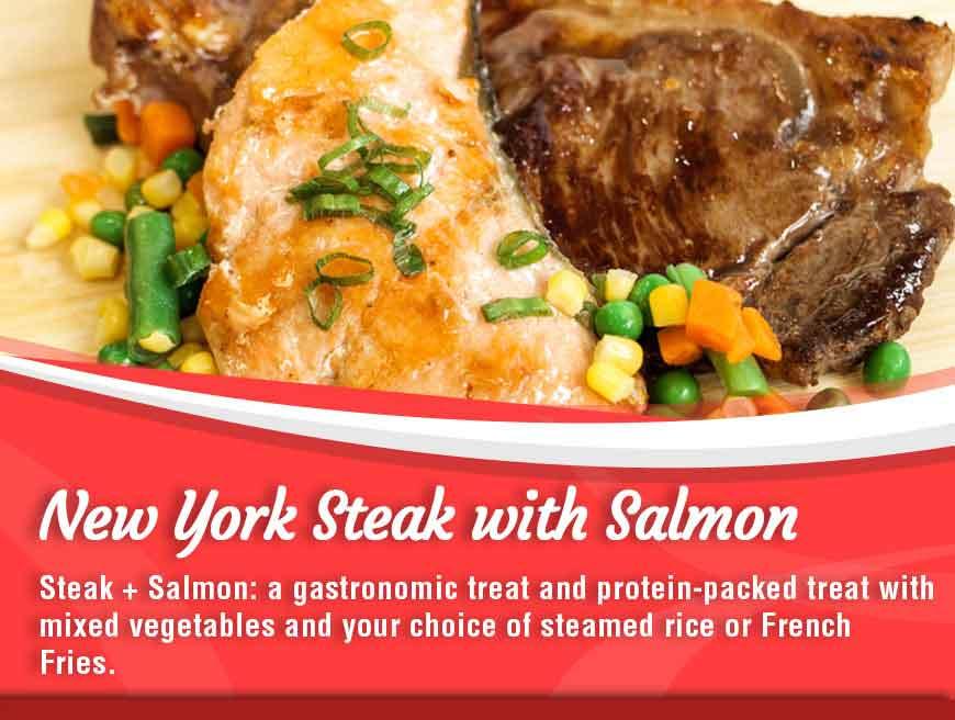New York Steak with Salmon