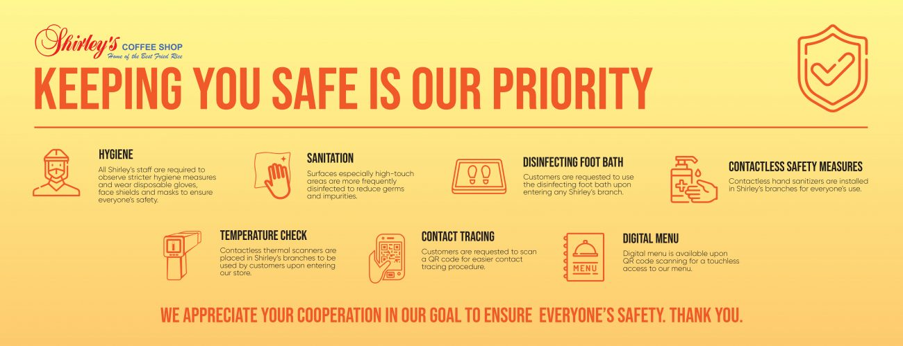 Shirley's Safety Protocols Website Banner